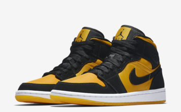 best loved d2dfd f6cdf Air Jordan 1 Mid in Black and University Gold