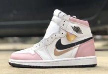 Air Jordan 1 Triple Swoosh Pink White Black Rose Gold Release Info