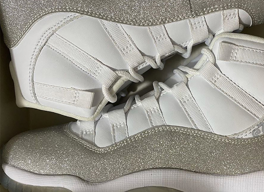 Air Jordan 11 WMNS White Metallic Silver Vast Grey AR0715-100 Release Date