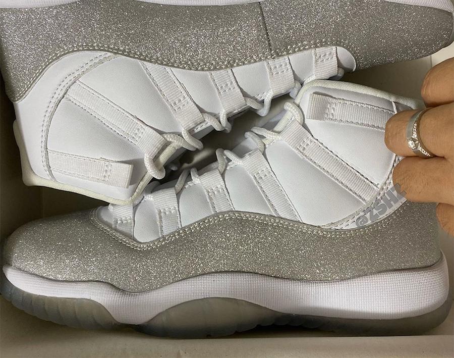 Air Jordan 11 WMNS White Metallic Silver Vast Grey AR0715-100 Release Info | SneakerFiles