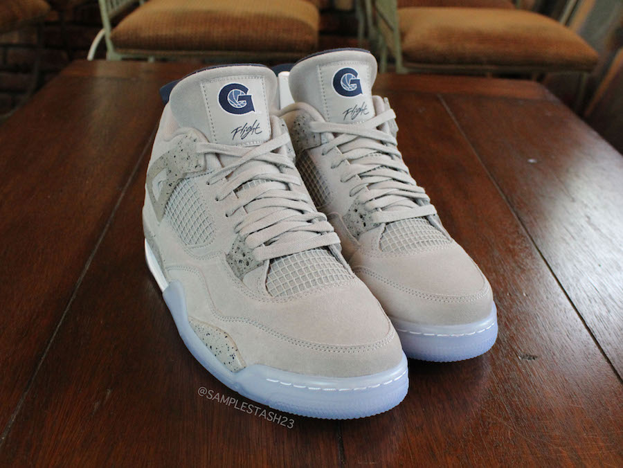 Air Jordan 4 Georgetown Hoyas PE Info +