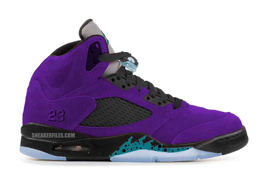 low priced 6edde 5f20e Air Jordan 5 Alternate Grape Ice Black Clear New Emerald ...