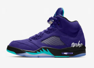 Air Jordan 5 Alternate Grape Ice Black Clear New Emerald 136027-500 Release Info