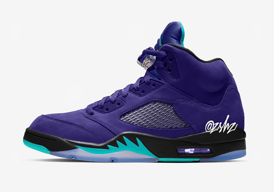 innovative design 9c9c4 71bed Air Jordan 5 Alternate Grape Ice Black Clear New Emerald 136027-500 Release  Info