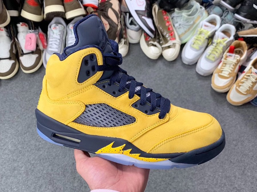5263a0a6670 Air Jordan 5 Michigan Inspire Amarillo College Navy CQ9541-704 ...