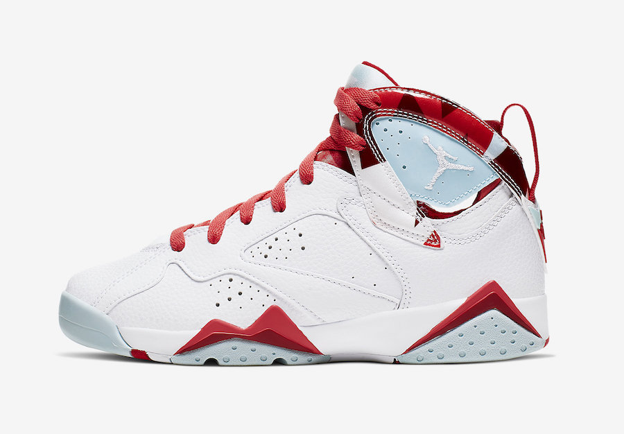 1a5a01c2a3c Air Jordan 7 GS White Topaz Mist Ember Glow Gym Red 442960-104 ...