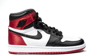 Black Toe Air Jordan 1 WMNS Satin CD0461-016 Release Date
