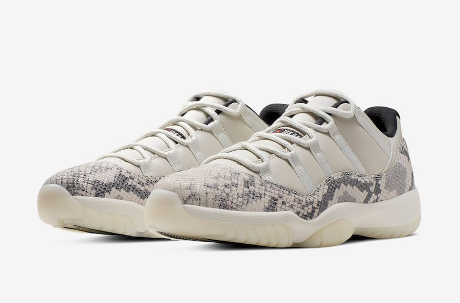 Buy Air Jordan 11 Low Snakeskin Light Bone CD6846-002 Store List