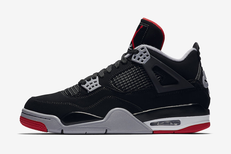 51aff9b87b45 Buy Air Jordan 4 Bred 2019 308497-060 Store List