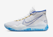 64bc039b993dfd Nike KD 12 Warriors Home AR4229-100 Release Info