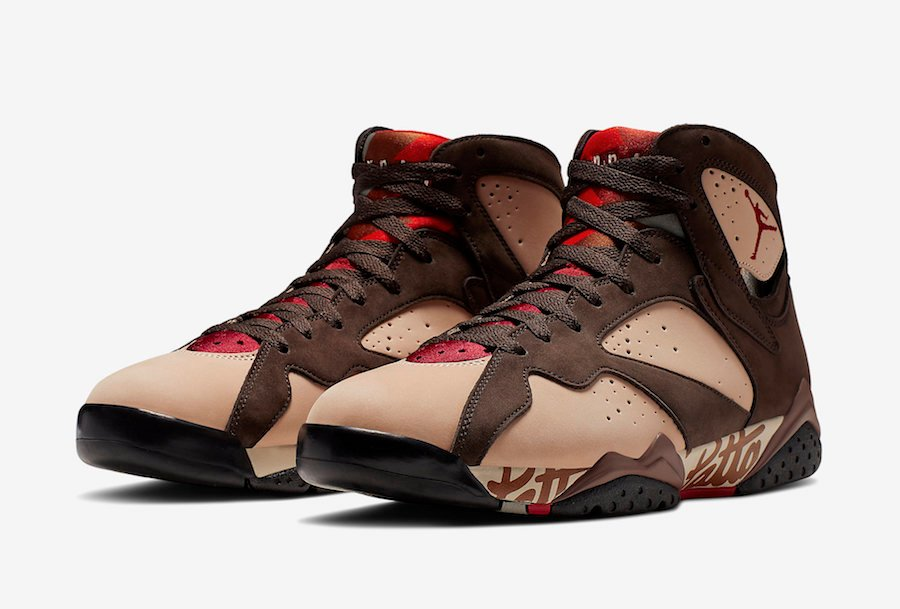 Buy Patta Air Jordan 7 Shimmer Mahogany Mink AT3375-200 Store List