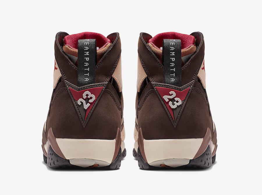 Buy Patta Air Jordan 7 Shimmer Mahogany Mink AT3375-200 Store List