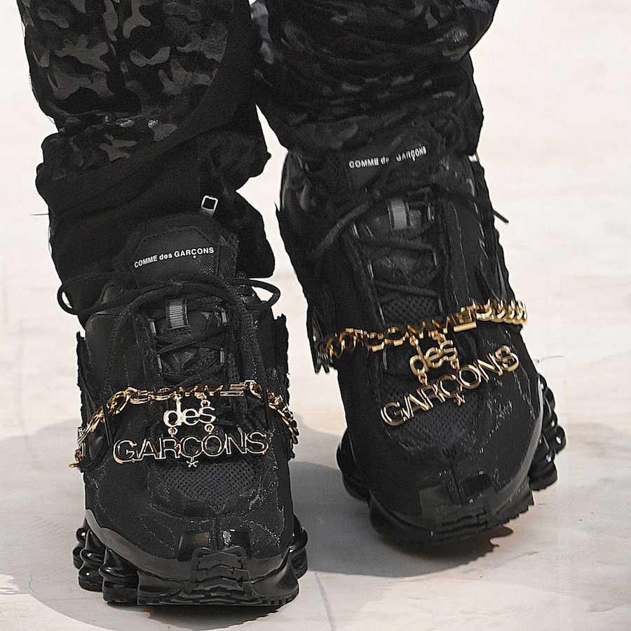 Comme des Garcons Nike Shox TL Black Release Info
