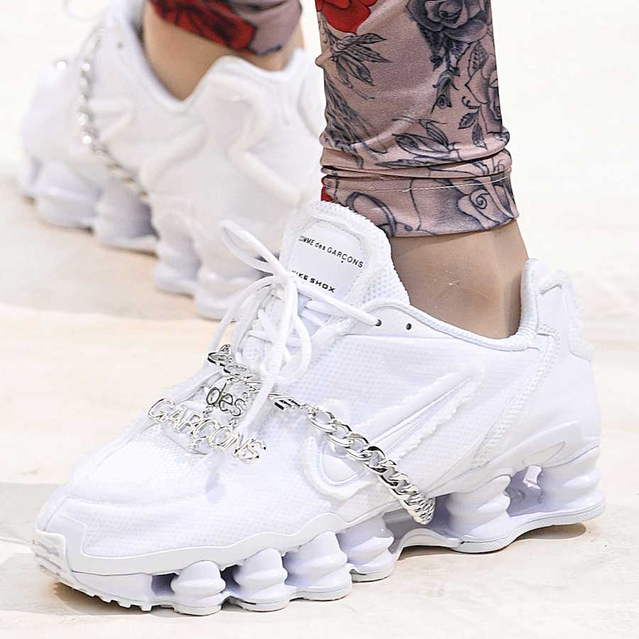 Comme des Garcons Nike Shox TL Triple White Release Info