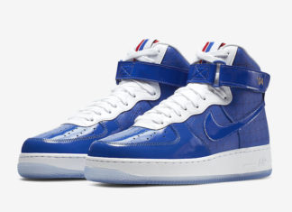 premium selection 4bfda 61bf1 Nike Air Force 1 High 2004 NBA Finals CI9880-400 Release Info