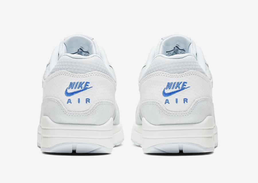 Nike Air Max 1 Premium Pure Platinum Racer Blue 875844-011 Release Info