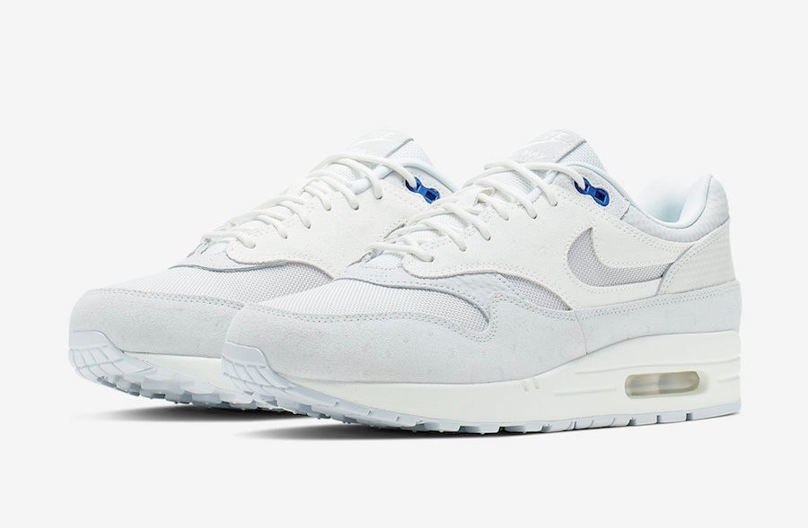 Nike Air Max 1 Premium Pure Platinum Racer Blue 875844-011 Release Info | SneakerFiles