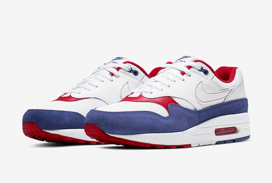 Nike Air Max 1 White Red Blue CJ9927