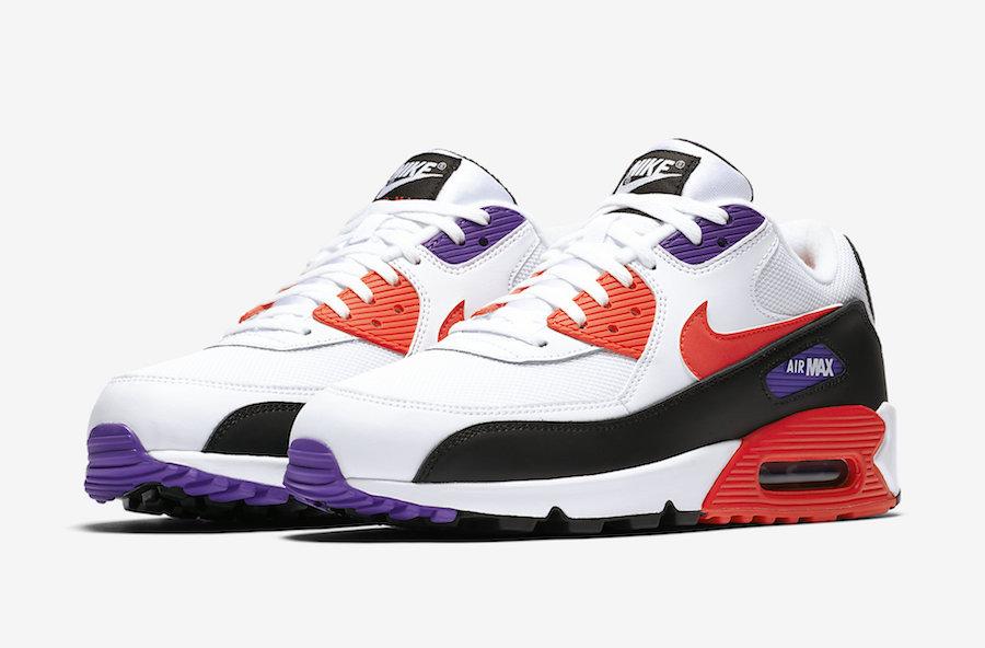 "Nike Air Max 90 ""Raptors"" WhiteRed Orbit Psychic Purple"