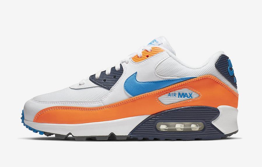 Nike Air Max 90 Total Orange Photo Blue AJ1285-104 Release Info