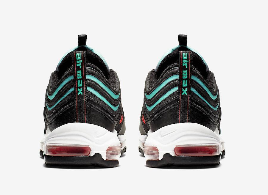 purchase cheap f355b 607c0 Nike Air Max 97 Black Ember Glow Blue Fury CJ0768-001 Release Info