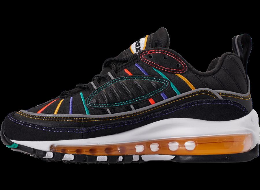 Nike Air Max 98 Black Multicolor CJ7393-001 Release Info
