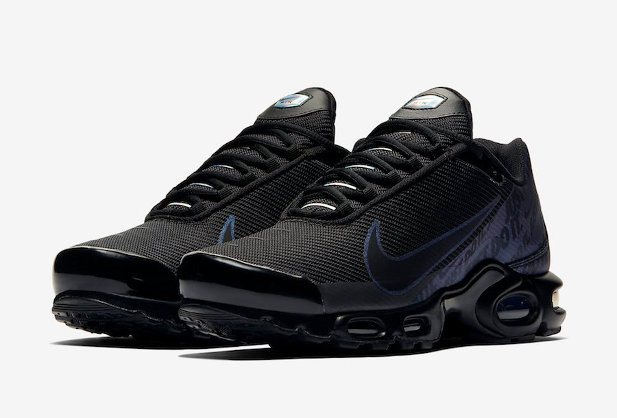air max plus tn just do it black iridescent