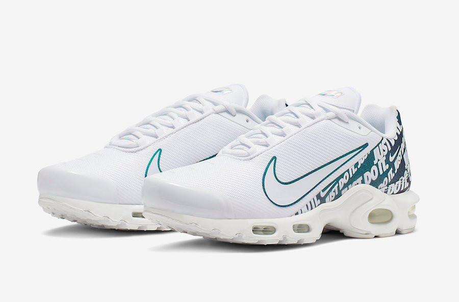 on sale c667a 59ab5 Nike Air Max Plus TN SE Just Do It CJ9697-100 Release Info ...