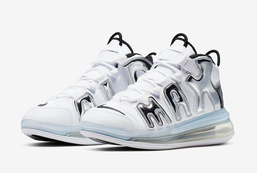 size 40 42836 41178 Nike Air More Uptempo 720 White Chrome BQ7668-100 Release Info