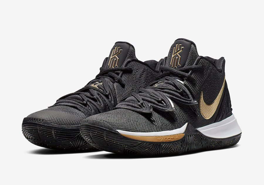 Nike Kyrie 5 Black Metallic Gold Release Info AO2918-007