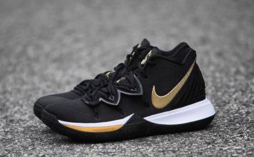 Nike Kyrie 5 Black Metallic Gold White AO2918-007 Release Info