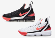 Nike LeBron 16 Hot Lava White Black Release Date