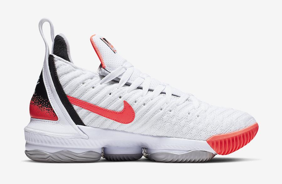 Nike Lebron 16 Hot Lava Ci1521 100 Ci1521 001 Release Info