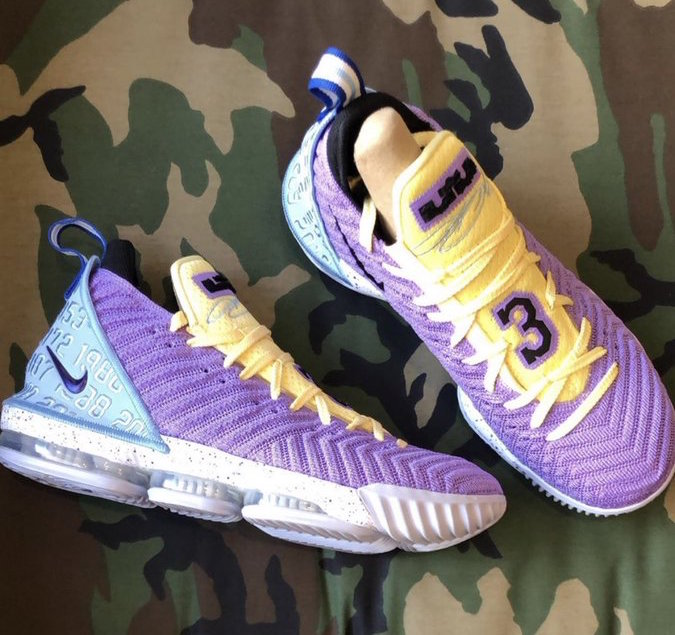 Nike LeBron 16 Lakers CK4765-500 Release Info