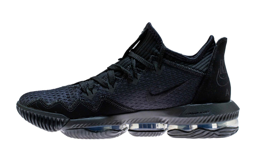 Nike LeBron 16 Low Triple Black CI2668-002 Release Info