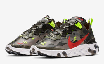 separation shoes dc046 b2990 Nike React Element 87 with Camo-Like Uppers
