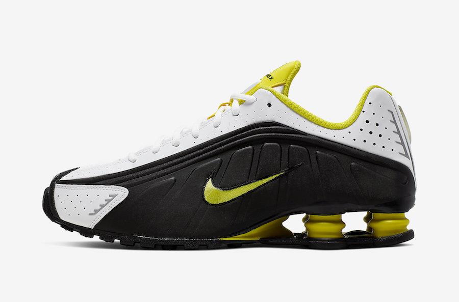 Nike Shox R4 Black Dynamic Yellow 104265-048 Release Info