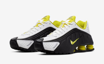 Nike Shox R4 Black Dynamic Yellow 104265-048 Release Info