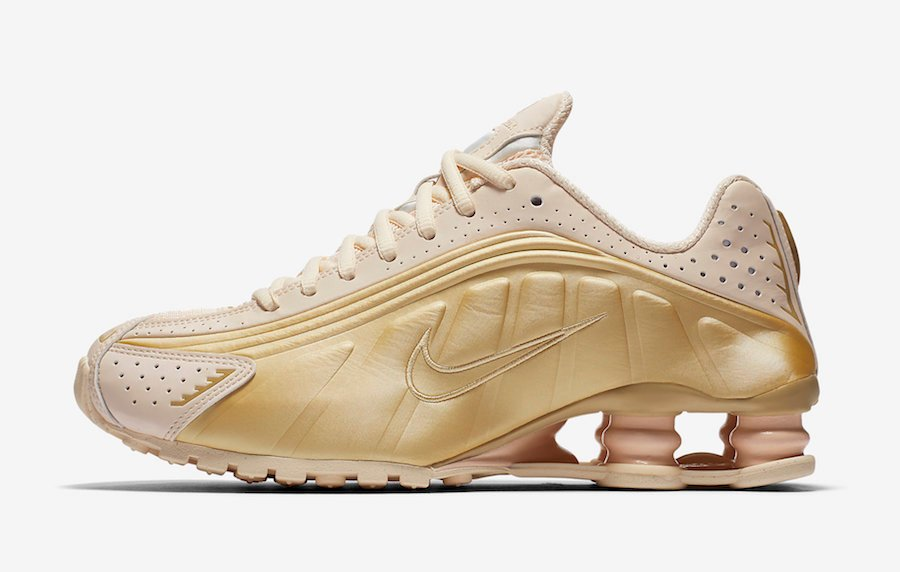 Nike Shox R4 Gold Guava AR3565-800 Release Info