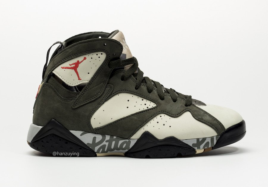 d9a7542d3f868 Patta Air Jordan 7 Icicle Sequoia River Rock Light Crimson AT3375-100  Release Info