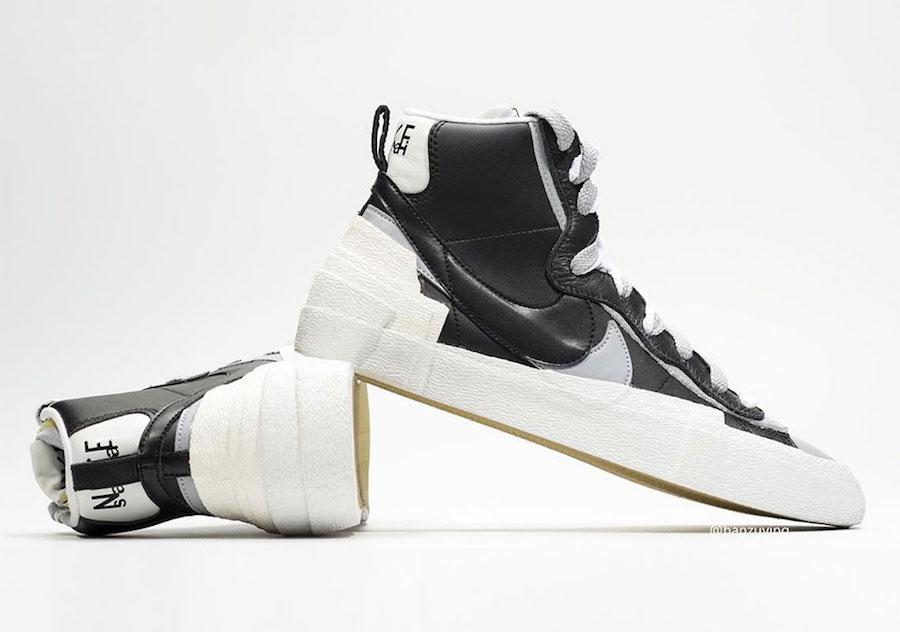 Sacai Nike Blazer Mid Black Grey White BV0062-002 Release Info