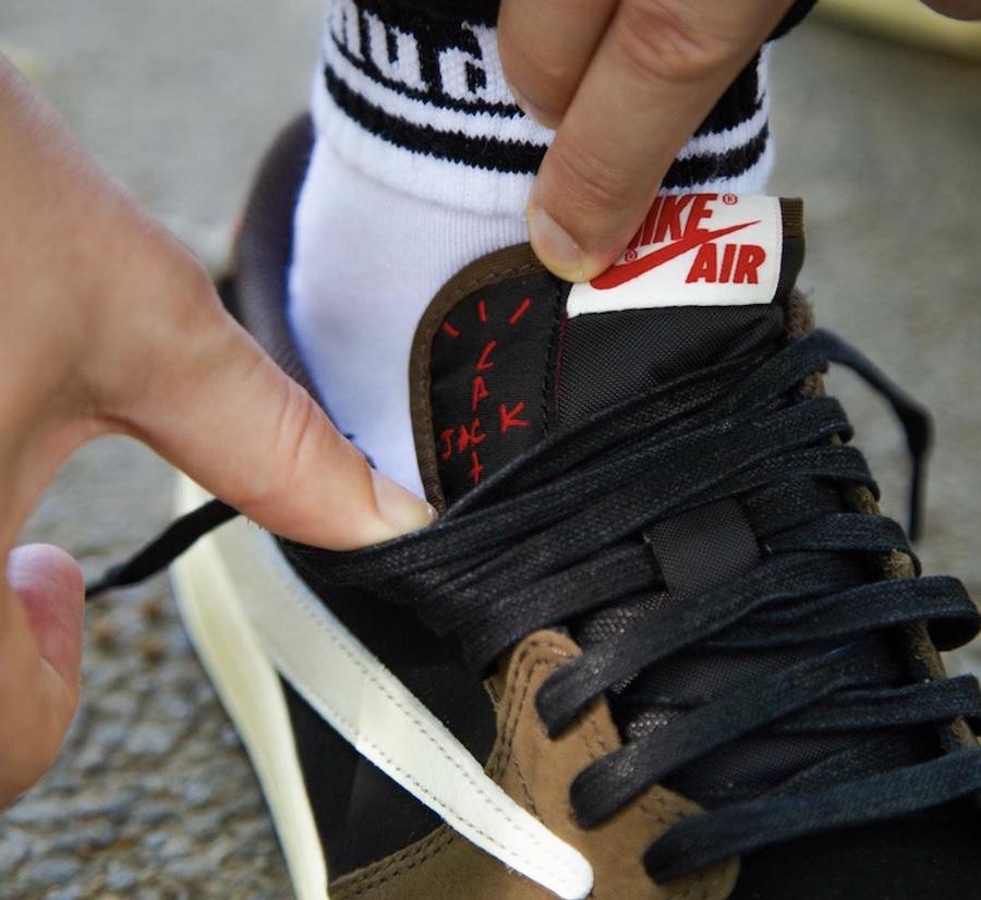 Travis Scott Air Jordan 1 Low CQ4277-001 On Feet