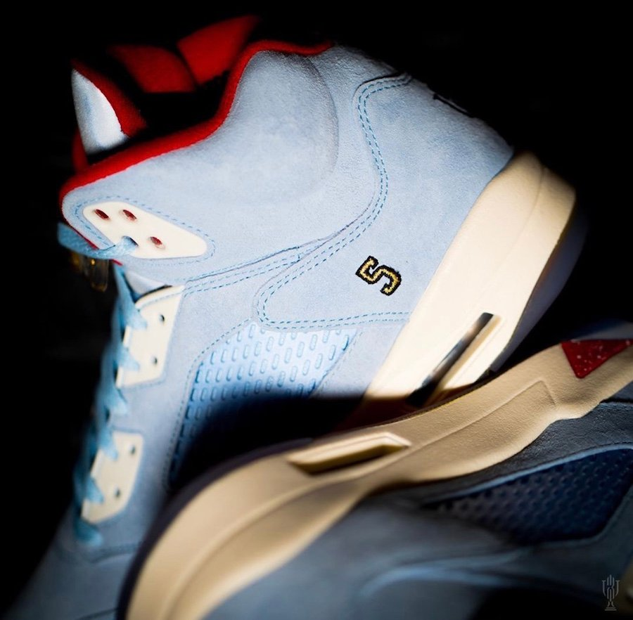Trophy Room Air Jordan 5 Ice Blue Release Date Info