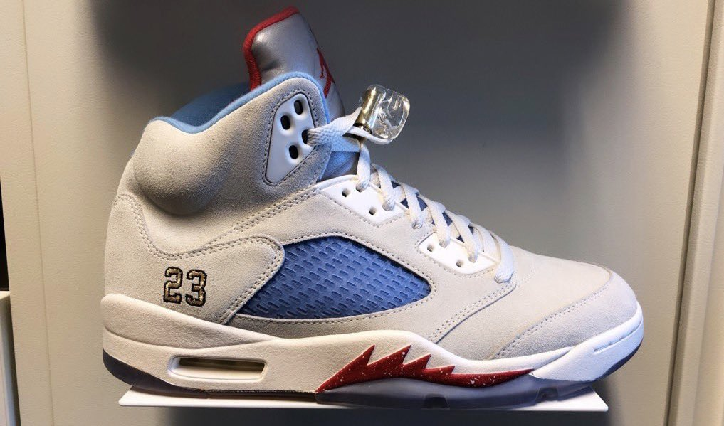 Trophy Room Air Jordan 5 Sail Release Info | SneakerFiles