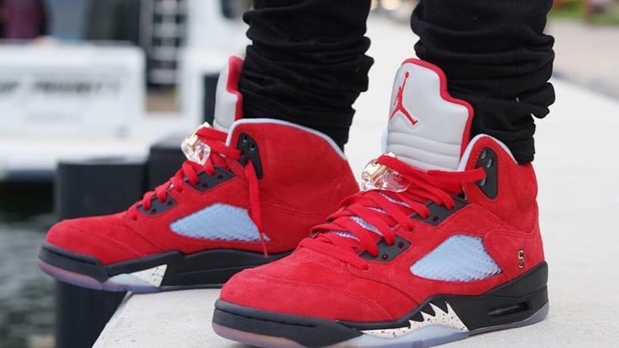 Trophy Room Air Jordan 5 University Red On Feet