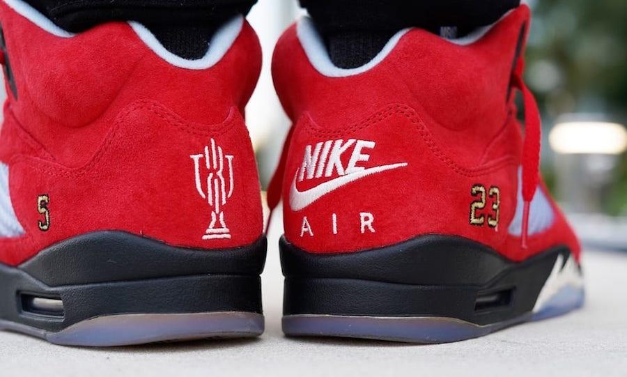 Trophy Room Air Jordan 5 Ice Blue University Red Release