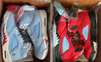new arrival c517b 59c92 New Images of the Trophy Room x Air Jordan 5 Pack
