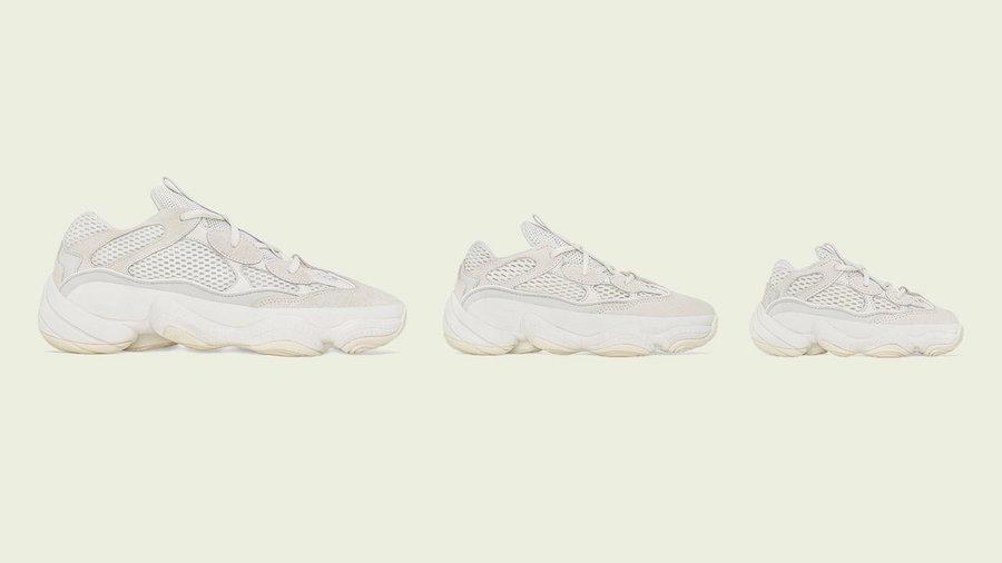 adidas Yeezy 500 Bone White Family Sizing Release Info