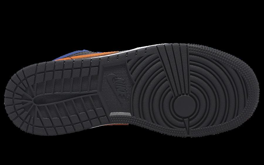 Air Jordan 1 Low GS Black Blue Orange 553560-480 Release Date Info