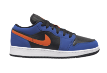 Air Jordan 1 Low GS Black Blue Orange 553560-480 Release Date Info
